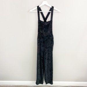 Urban Outfitters Black Velvet Jumpsuit